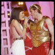 Sofia Essaïdi en tenue de spectable pour 'Cléopâtre' et Chris Stills
