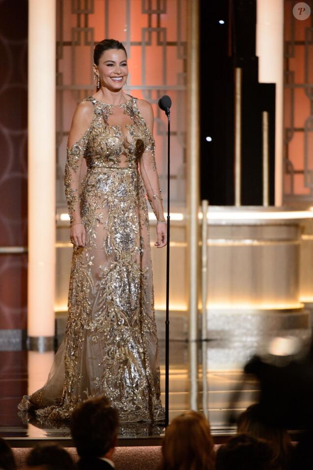 Sofia Vergara - Show lors de la 74ème cérémonie annuelle des Golden Globe Awards à Beverly Hills, Los Angeles, Californie, Etats-Unis, le 8 janvier 2017