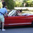 Kendall Jenner et Derek Blasberg tournent un reportage pour CNN Style. Los Angeles, le 10 novembre 2016.