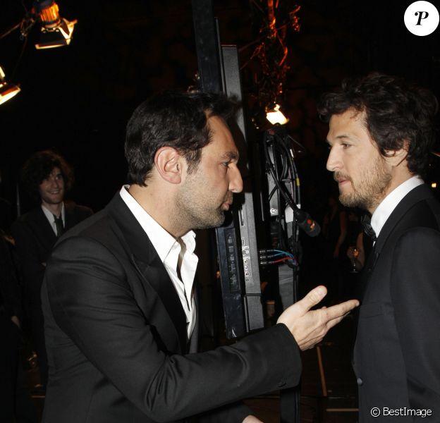 Gilles Lellouche et Guillaume Canet - Coulisses de la cérémonie des César en 2012 à Paris