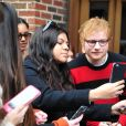 Exclusif - Ed Sheeran rencontre des fans à New York, le 12 Janvier 2017.