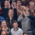 Jeny Priez, compagne de Luka Karabatic, lors du match d'ouverture du Mondial de handball 2017, France-Brésil (31-16), à l'AccorHotels Arena à Paris le 11 janvier 2017. © Cyril Moreau/Bestimage