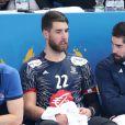 Nikola Karabatic et l'équipe de France de handball ont réussi leurs débuts dans le Mondial 2017 en s'imposant facilement contre le Brésil (31-16), à l'AccorHotels Arena à Paris le 11 janvier 2017. © Cyril Moreau/Bestimage