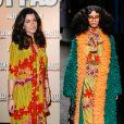 """Jenifer portait une robe Gucci collection automne-hiver 2016 à l'avant-première de """"Faut pas lui dire""""."""
