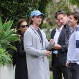 Maria Shriver et son fils Patrick Schwarzenegger visitent des maisons pour Patrick, avec des amis à Hollywood, le 10 janvier 2017.
