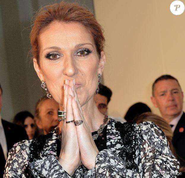 """Exclusif - Céline Dion - People en backstage du défilé de mode Haute-Couture automne-hiver 2016/2017 """"Giambattista Valli"""" à Paris le 4 juillet 2016. © Veeren / Bestimage"""
