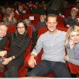 Jean Todt, Michelle Yeoh, Michael Schumacher et sa femme Corinna - Premiere du film Asterix à Paris le 13 janvier 2008.