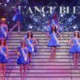 Les candidates lors de l'élection de Miss Prestige National 2017 au cabaret l'Ange Bleu à Gauriaguet près de Bordeaux le 14 janvier 2017. © Patrick Bernard / Bestimage