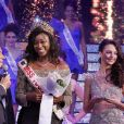 Semi Exclusif - Bernard Montiel, Balbina D'Almeida, Miss Togo 2016 et Emilie Secret, Miss Prestige National 2016 lors de l'élection de Miss Prestige National 2017 au cabaret l'Ange Bleu à Gauriaguet près de Bordeaux le 14 janvier 2017. © Patrick Bernard / Bestimage