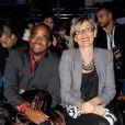 """Harry Marthe et Sophie Marthe, les parents de Shy'm - Shy'm, directrice artistique de la nouvelle marque créateur """"AS I AM"""", présente la collection printemps/été 2014 a la galerie Nikki Diana Marquardt a Paris, le 4 decembre 2013."""