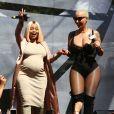 Blac Chyna enceinte, Amber Rose au Festival Amber Rose SlutWalk dans le quartier de downtown à Los Angeles, le 1er octobre 2016