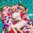 Amber Rose pose pour la nouvelle collection de la marque américaine Missguided à Los Angeles, Californie, Etats-Unis.