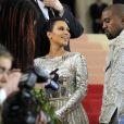 """Kim Kardashian West et son mari Kanye West - Soirée Costume Institute Benefit Gala 2016 (Met Ball) sur le thème de """"Manus x Machina"""" au Metropolitan Museum of Art à New York, le 2 mai 2016. © Future-Image via ZUMA Wire/Bestimage"""