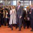 Le roi Felipe VI et la reine Letizia d'Espagne ont inauguré le 18 janvier 2017 au Parc des expositions Juan Carlos Ier la 37e édition de la FITUR, le Salon international du tourisme de Madrid.
