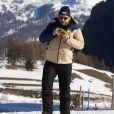 """Exclusif - Moktar Guétari - Les chroniqueurs de """"Touche pas à mon poste"""" tournent """"TPMP fait du ski"""" à Montgenèvre dans les Hautes-Alpes le 17 décembre 2016. Le tournage s'est déroulé du 16 au 19 décembre 2016. © Dominique Jacovides / Bestimage"""