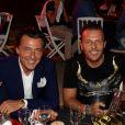 """- Dominique Pedri et son frère Jean-Roch - People à la 3ème édition de la """"Fight Night"""" à Saint-Tropez. Les plus grands noms de la Boxe Thaï et du Kick-Boxing mondiaux se sont affrontés sur le ring, au milieu de La Citadelle. Le 4 août 2015"""