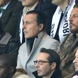 Jean-Roch et son frère Dominique Pedri - People au match de ligue des champions Psg - Real de Madrid au Parc des Princes à Paris le 21 octobre 2015.