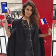 Iris Mittenaere à l'aéroport CDG de Paris le 12 janvier 2017.