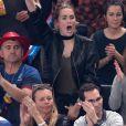 Jeny Priez compagne de Luka Karabatic lors du match d'ouverture du mondial de handball, la France contre le Brésil à AccorHotels Arena à Paris, France, le 11 janvier 2017.