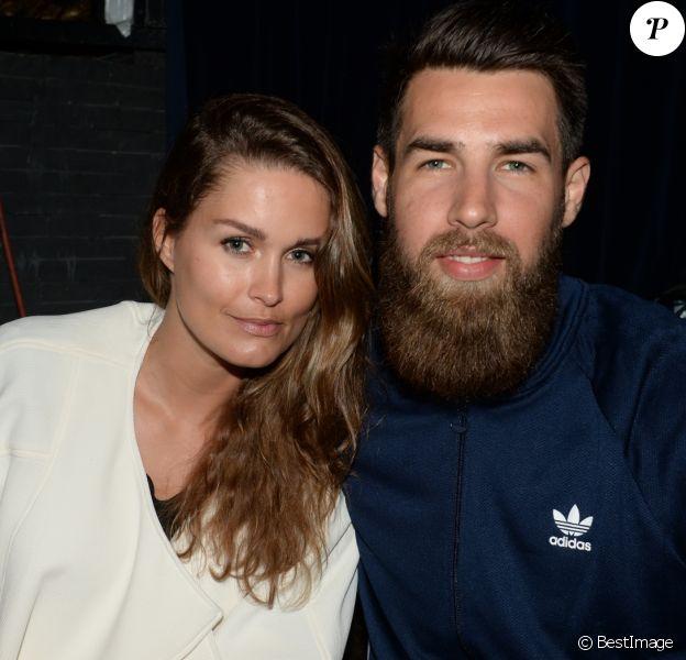 Luka Karabatic et sa compagne Jeny Priez - Soirée Adidas à l'Arc à Paris, le 28 mai 2015.