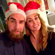 Luka Karabatic et sa compagne Jeny Priez. Noël 2015.