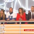 """Capucine Anav face à Matthieu Delormeau dans """"Il en pense quoi Matthieu ?"""" sur C8, le 27 janvier 2017."""