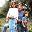 Morgane Polanski pose avec son père Roman et son petit frère Elvis