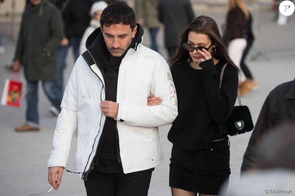 Riccardo Tisci et Bella Hadid à Paris, France, le 22 janvier 2017.