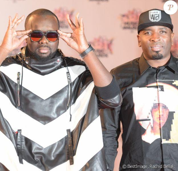Maître Gims et Dawala (Wati B) - Arrivées à la 17ème cérémonie des NRJ Music Awards 2015 au Palais des Festivals à Cannes, le 7 novembre 2015. © Rachid Bellak/Bestimage