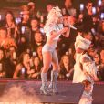 Lady Gaga en concert lors du Super Bowl au NRG Stadium à Houston, le 5 février 2017