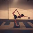 Georgina Rodriguez, jeune compagne de Cristiano Ronaldo, en pleine séance de yoga au lendemain de son 23e anniversaire. Photo Instagram février 2017.