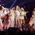 Lady Gaga en concert lors du Super Bowl au stade NRG à Houston, Texas, Etats-Unis, le 5 février 2017.