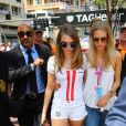 Poppy Delevingne et sa soeur Cara Delevingne au Grand Prix de formule 1 de Monaco le 24 mai 2015