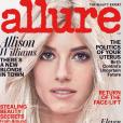 Allison Williams toute blonde en couverture du magazine Allure, au mois de février 2017