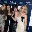 Allison Williams, Zosia Mamet, Lena Dunham, Jemima Kirke lors de la première de la 6ème et dernière saison de ''Girls'' au Alice Tully Hall, Lincoln Center à New York, le 2 février 2017.