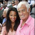 Barbara Gandolfi et Jean-Paul Belmondo à Roland Garros le 5 juin 2011.