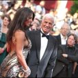 Jean-Paul Belmondo et Barbara Gandolfi à Cannes en mai 2011.