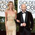 Jason Statham et sa fiancée Rosie Huntington-Whiteley - La 73e cérémonie annuelle des Golden Globe Awards à Beverly Hills, le 10 janvier 2016.