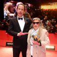 """Bim Bam Merstein et Reda Kateb lors de la première du film """"Django"""" pendant l'ouverture du 67e Festival du Film International de Berlin, la Berlinale, à Berlin, Allemagne, le 9 février 2017."""