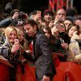 """Diego Lunalors de la première du film """"Django"""" pendant l'ouverture du 67e Festival du Film International de Berlin, la Berlinale, le 9 février 2017."""