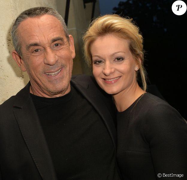 Exclusif - Thierry Ardisson, et sa femme Audrey Crespo-Mara - Anniversaire de Jacques Sanchez au restaurant Nolita à Paris le 29 mai 2016. © Veeren/Bestimage