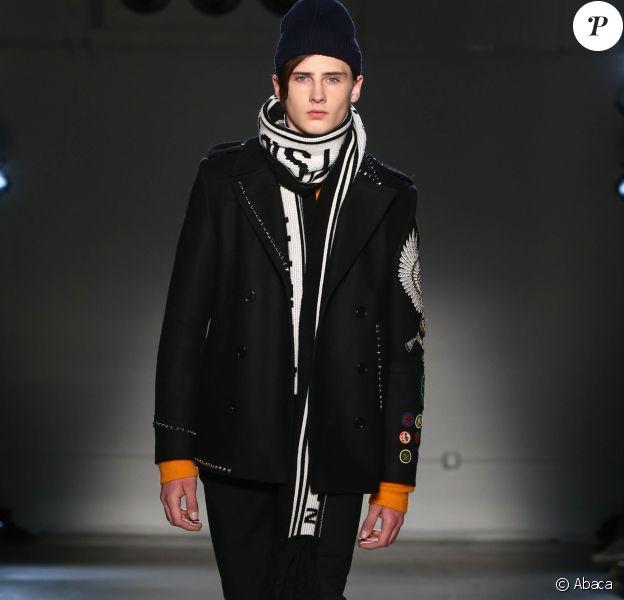 Noé Elmaleh lors du défilé Zadig & Voltaire à la New York Fashion Week, au Skylight Modern, le 13 février 2017.