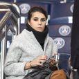 Karine Ferri encourage son compagnon Yoann Gourcuff lors du match Psg-Rennes au Parc des Princes à Paris le 6 novembre 2016. (victoire 4-0 du Psg) © Pierre Perusseau/Bestimage