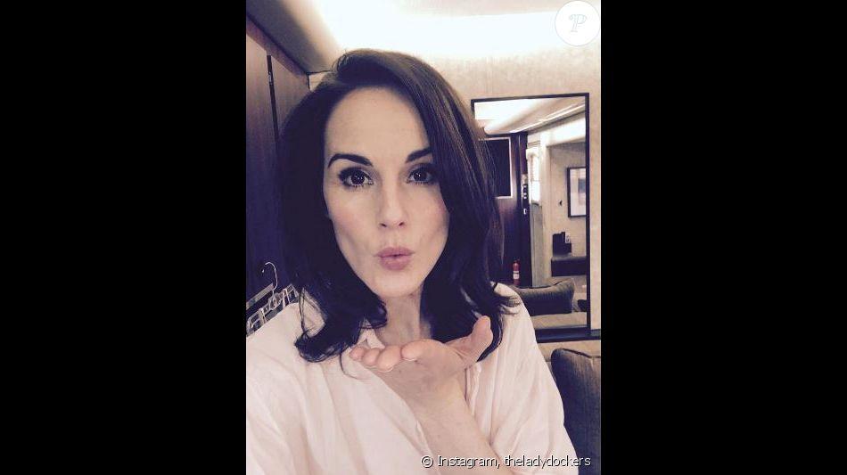 Michelle Dockery a posté ce selfie pour la Saint Valentin afin de soutenir l'association Standup2 cancer, le 14 février 2017 sur Instagram.