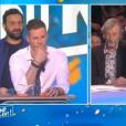 """Gilles Verdez fait passer un sale quart d'heure au chroniqueur Matthieu Delormeau dans """"TPMP"""", le 16 février 2017 sur C8."""