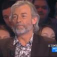 """Le chroniqueur Gilles Verdez fait passer un sale quart d'heure à Matthieu Delormeau dans """"TPMP"""", le 16 février 2017 sur C8."""