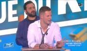 """Gilles Verdez clashe Matthieu Delormeau dans """"TPMP"""" le 16 février 2017 sur C8."""