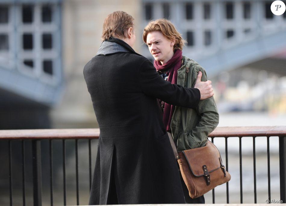 Liam Neeson, Thomas Brodie-Sangster sur le tournage de la