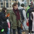 Thomas Brodie-Sangster sur le tournage de la suite de Love Actually pour le Comedy Relief and Red Nose Day à Londres le 16 février 2017.