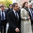 Claude Goasguen, maire du 16ème arrondissement de Paris - Nicolas Sarkozy et sa femme Carla Bruni votent pour les primaires de la droite et du centre à Paris dans le 16ème arrondissement le 20 novembre 2016. © Cyril Moreau / Bestimage
